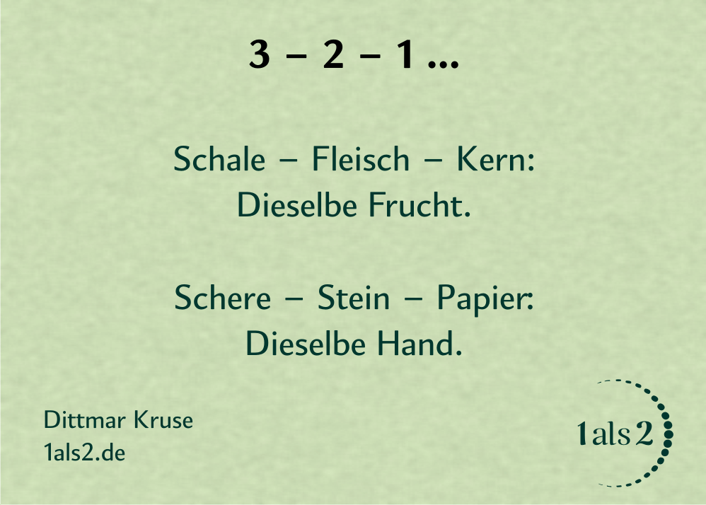 Nondualität Gedichte: 3-2-1 ...