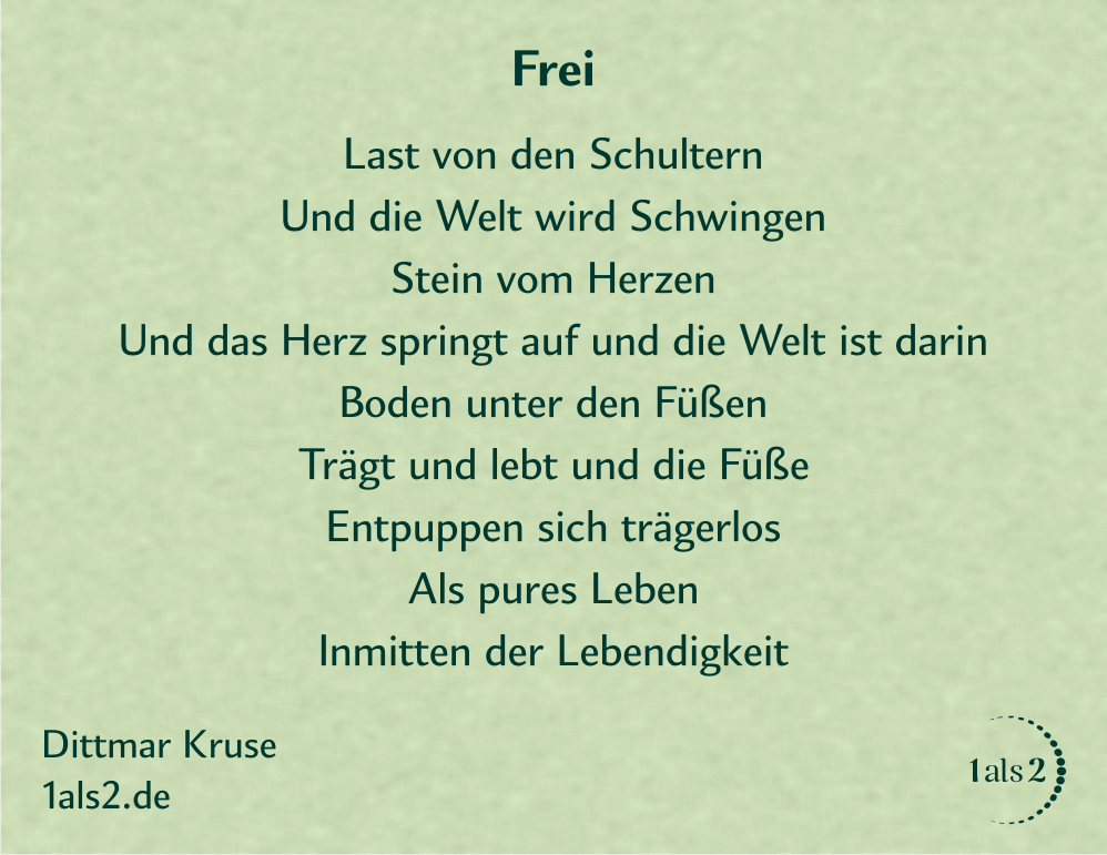 Nondualität | Gedichte: Frei