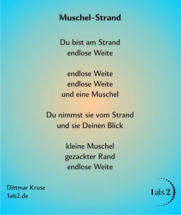 Nondualität Gedichte: Muschel-Strand